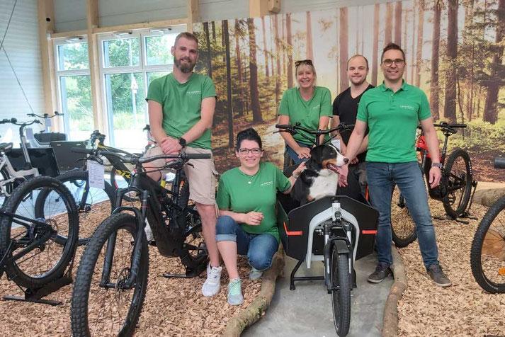 Das Team vom Lastenfahrrad-Zentrum Westhausen