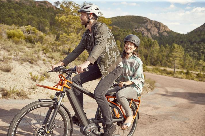 Riese und Müller e-Cargobike, Lasten e-Bike, Lastenfahrrad mit Elektroantrieb Multicharger Mixte