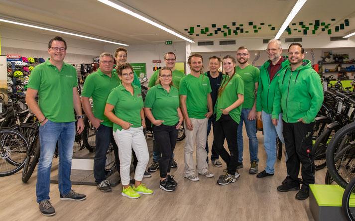 Das Team des Lastenrad-Zentrums Hiltrup