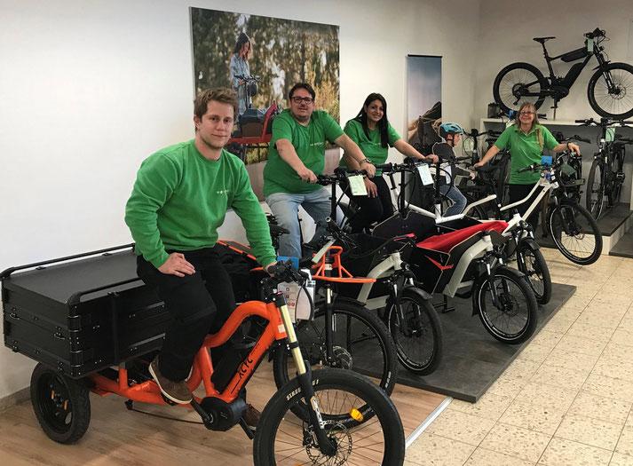 Lastenfahrräder, e-Cargobikes und Lasten e-Bikes kaufen, Probefahren und Services im Lastenfahrrad-Zentrum Ravensburg