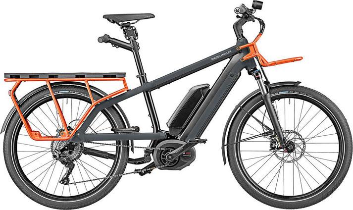 Riese und Müller e-Cargobike, Lasten e-Bike, Lastenfahrrad mit Elektroantrieb Multicharger GT rohloff 2020