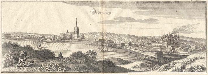 Boitzenburg auf einem Stich von Merian um 1630