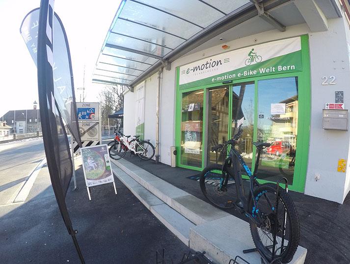 e-Mountainbikes und Pedelecs probefahren und kaufen in der e-motion e-Bike Welt Bern