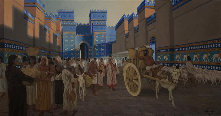 Bien que considérée comme « l'ornement des royaumes, la fière parure des Babyloniens », Dieu condamne Babylone à céder la place à la puissance médo-perse en 539 av J-C après 70 ans de suprématie néo-babylonienne