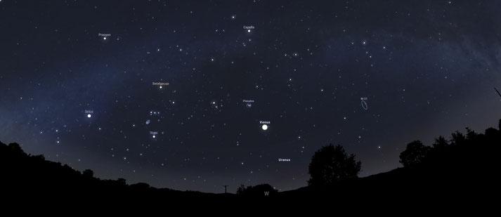 zum vergrößern auf das Bild klicken. Sternen Konstellation Venus.