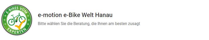 Termin online buchen in der e-motion e-Bike Welt Hanau