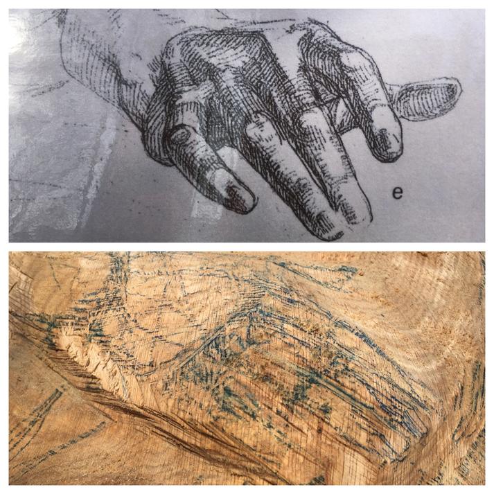 Die Hand von Paolo, Detail 'la Baiser' von Rodin für Bienen