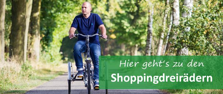 Shopping-Dreirad für Erwachsene