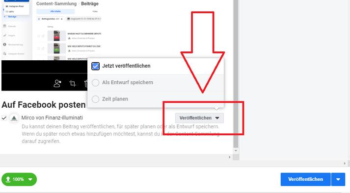 Facebook Creator Studio Facebook planen