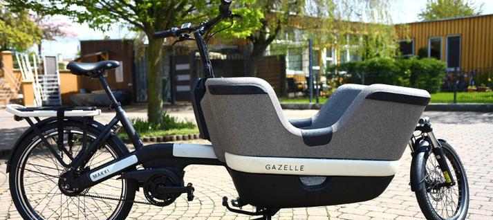Das Lasten e-Bike von Gazelle zieht in Frankfurt ein