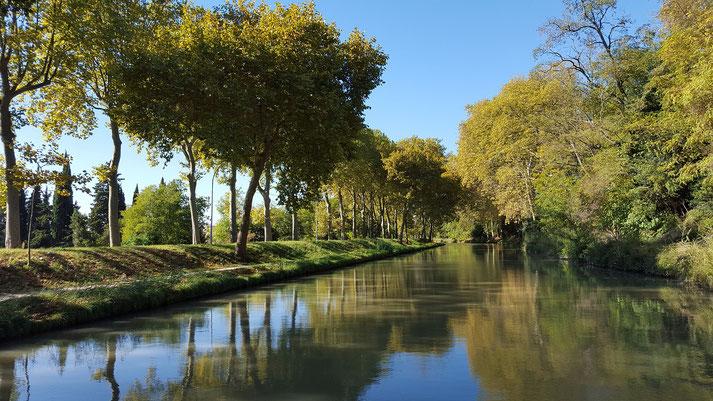 Canal du Midi à proximité de Carcassonne