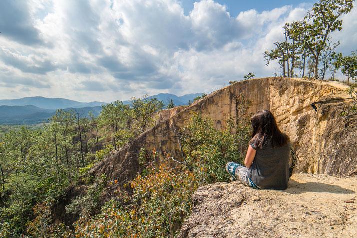 Aussicht geniessen im Pai Canyon