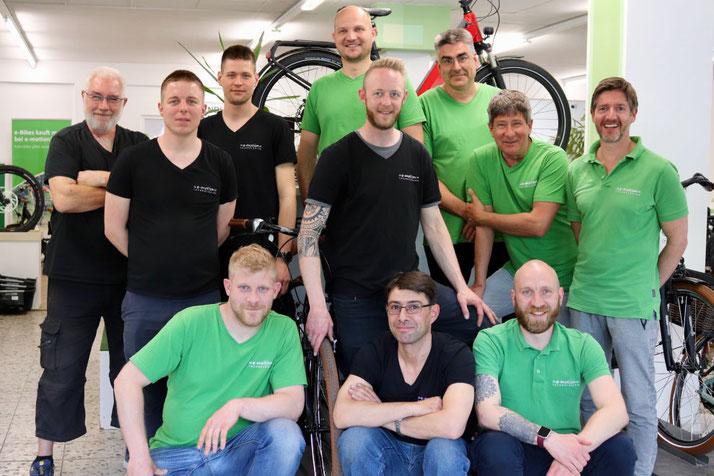 Das Team der e-motion e-Bike Welt Berlin-Steglitz