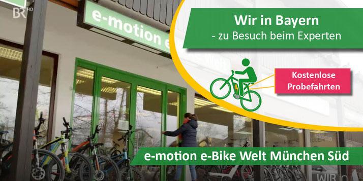 Fernsehbericht über die e-motion e-Bike Experten aus München Süd