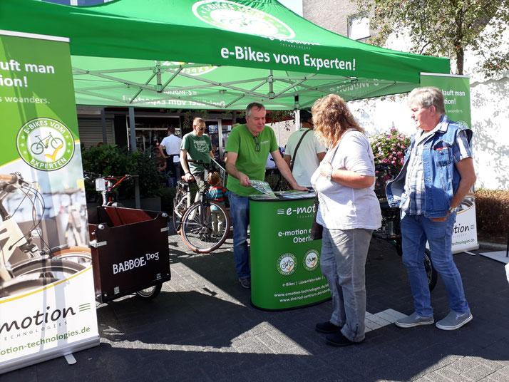 Die e-motion e-Bike Welt Oberhausen beim Stadtfest Osterfeld