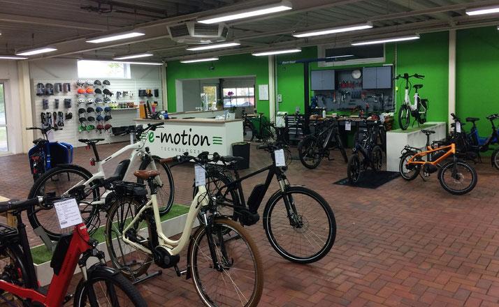 Die e-motion e-Bike Welt in Lübeck