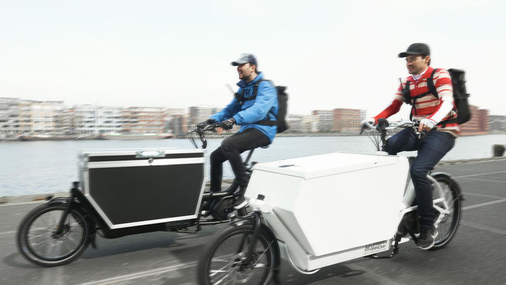 Urban Arrow e-Bikes in der e-motion e-Bike Welt in Düsseldorf