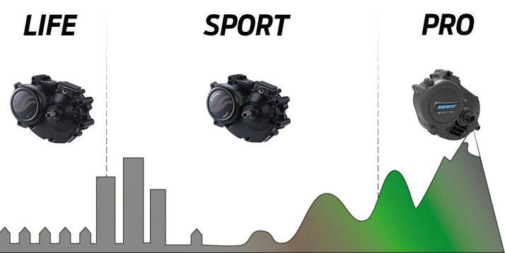 Die verschiedenen Sync Drive Antriebssysteme von Giant im Vergleich