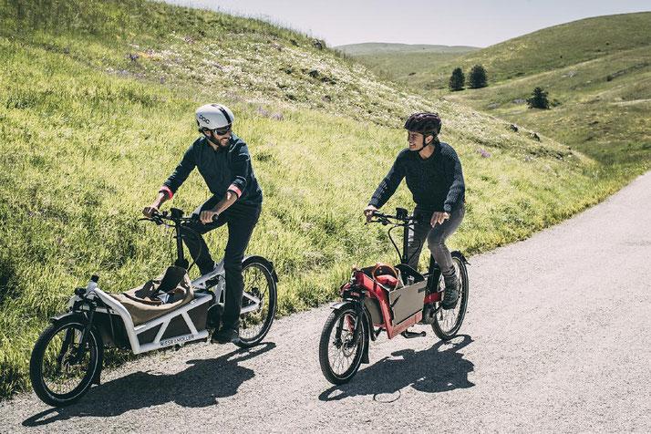 Lasten e-Bikes und alles drum herum finden Sie im Shop in Cloppenburg