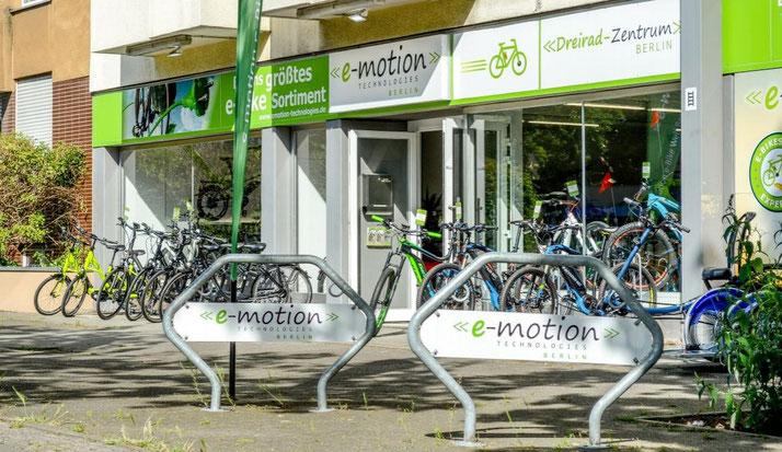 Die e-motion e-Bike Welt in Berlin-Steglitz