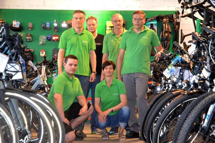 Das e-Bike Experten Team im Shop in Würzburg