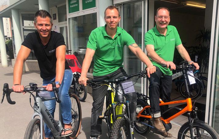 Das e-Bike Experten-TEam der e-motion e-Bike Welt Wien in Österreich