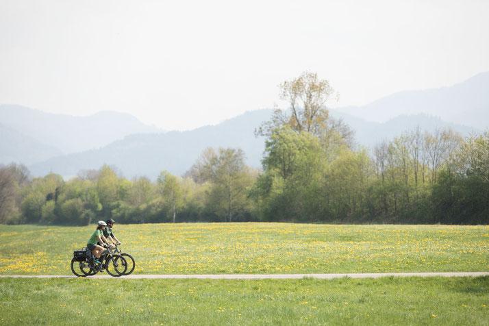 In Münster können Sie auch Trekking e-Bikes für eine geplante Tour mieten.