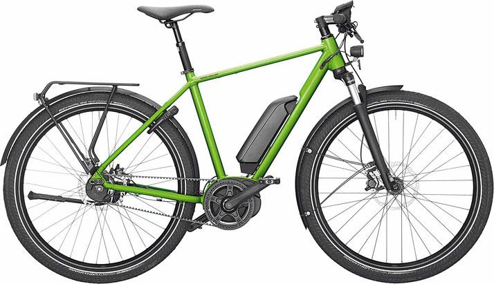 Riese & Müller Roadster GT Uban electric green metallic City e-Bike / Trekking e-Bike mit Gepäckträger