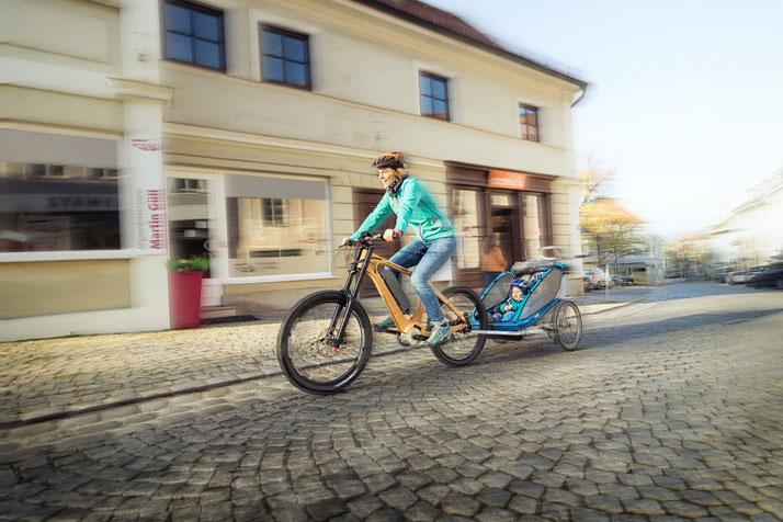 Der TQ e-Bike Antrieb bietet Ihnen einen maximalen Drehmoment von 120 Nm über die gesamte Leistungsbandbreite