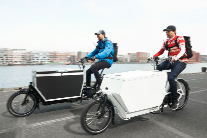 Urban Arrow e-Bikes in der e-motion e-Bike Welt in Wiesbaden