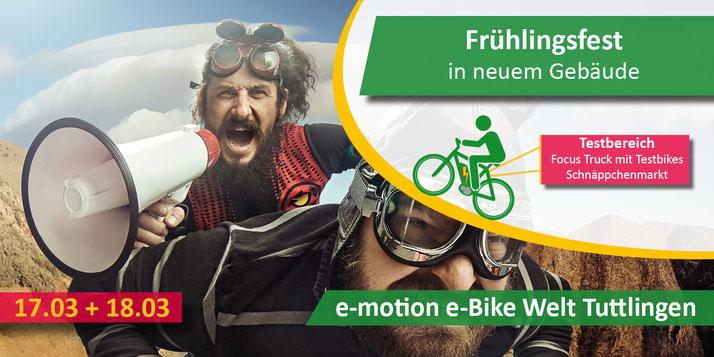 e-motion e-Bike Welt Tuttlingen: Frühlingsfest und offizielle Eröffnung nach dem Umzug
