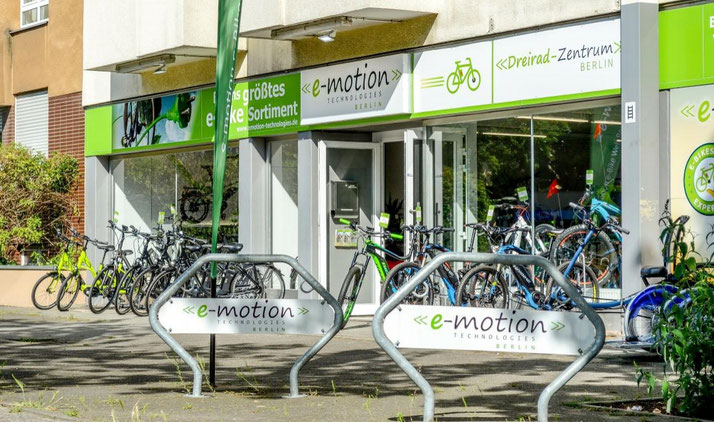 Die e-motion e-Bike Welt in Berlin-Steglitz