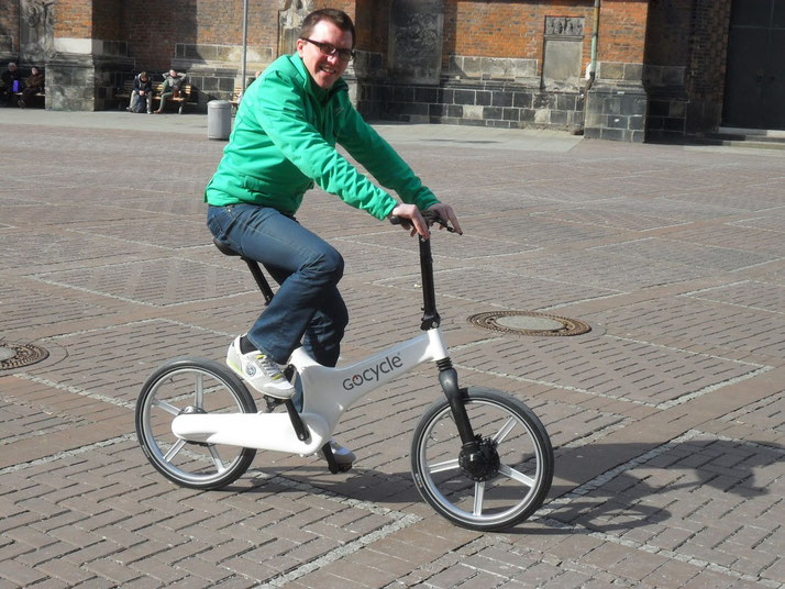 Gocycle Probefahrt in Hannover