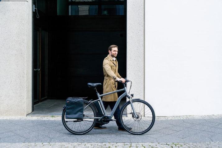Im Shop in Nürnberg West können Sie sich viele City e-Bikes ansehen.