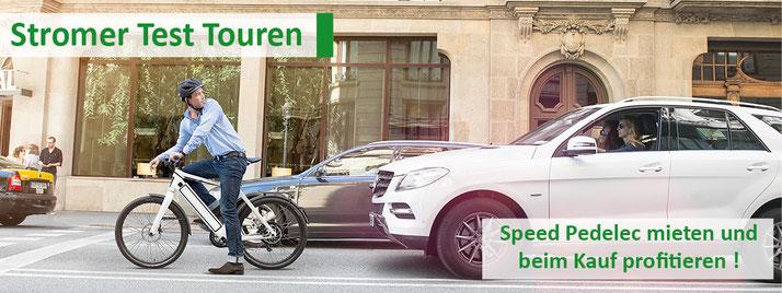 Stromer Test Touren e-motion e-Bike Welt Berlin-Steglitz: Speed Pedelec mieten und beim Kauf profitieren