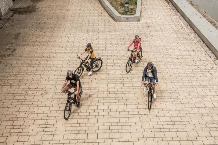 In Würzburg können Sie auch Trekking e-Bikes für eine geplante Tour mieten.