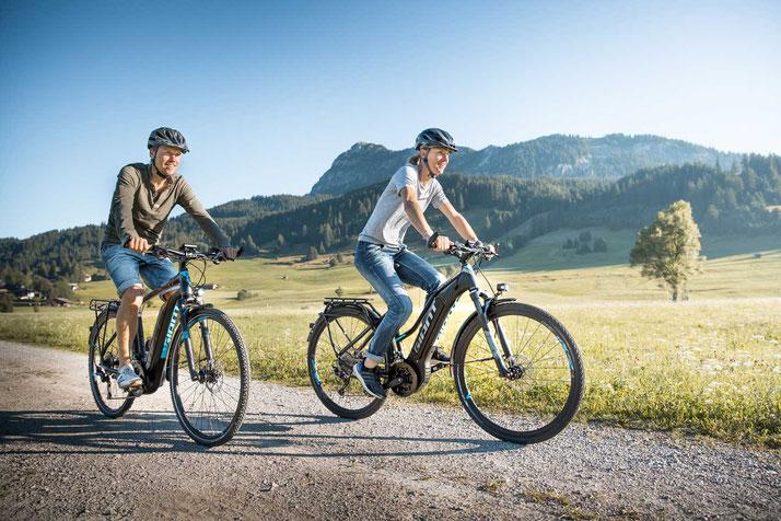 e-Mountainbikes der e-motion e-Bike Welt Cloppenburg