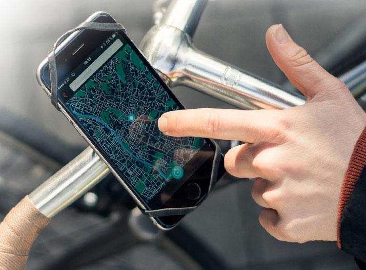 Finn sichere Handy-Halterung für e-Bikes, Pedelecs und Speed-Pedelecs