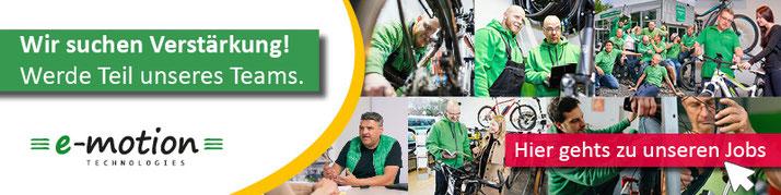 Jobs in der e-motion e-Bike Welt Düsseldorf