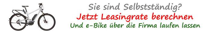 Pedelec / e-Bike Leasingrechner für Selbstständige und Arbeitgeber