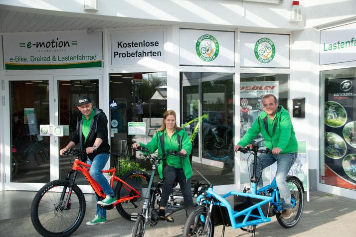 Pedelecs, Speed-Pedelecs und e-Bikes in der e-motion e-Bike Welt in Bremen