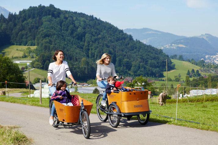 Lasten e-Bikes in der e-motion e-Bike Welt Bielefeld probefahren, vergleichen und kaufen
