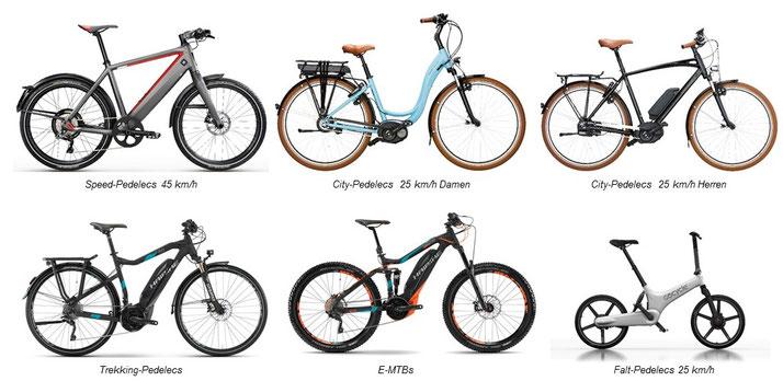 e-Bike und Pedelec Marken fürs Leasing