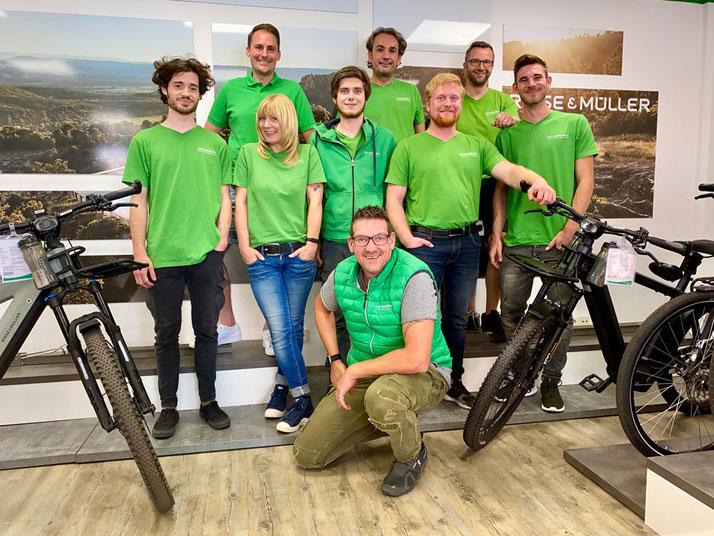 Das Team der e-motion e-Bike Welt Tönisvorst
