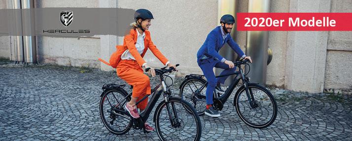 Hercules Pedelec City e-Bikes, Trekking e-Bikes, Lasten e-Bikes Falt und Kompakt e-Bikes und e-Mountainbikes 2020