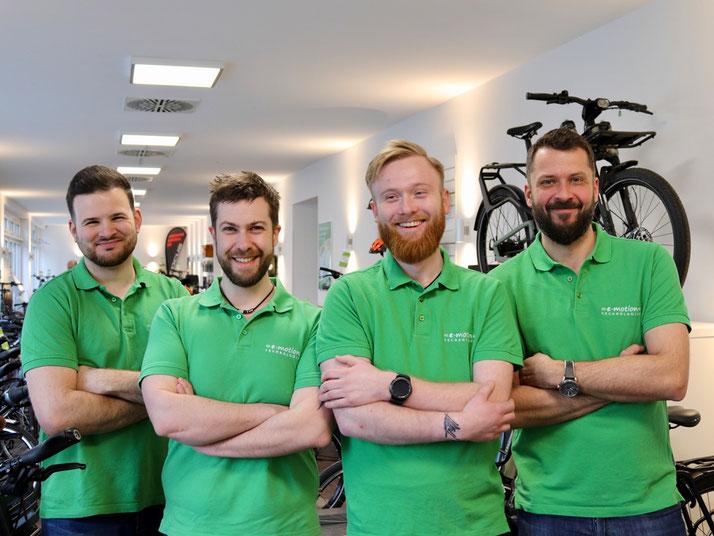 Das Team der e-motion e-Bike Welt Berlin-Mitte