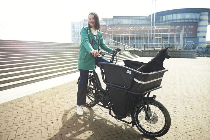 Lasten e-Bikes und alles drum herum finden Sie im Shop in Ahrensburg