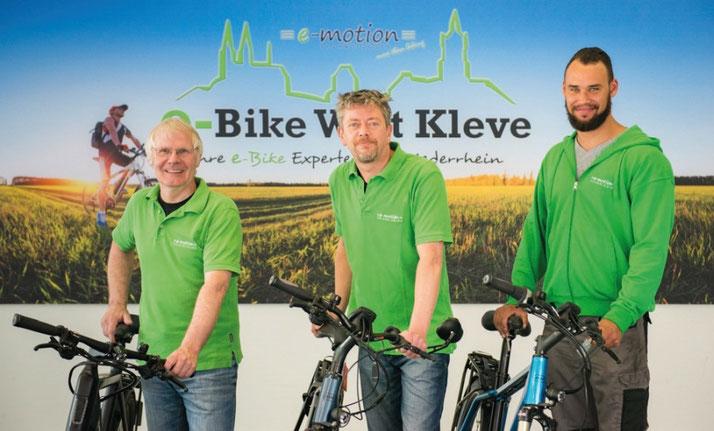 Elektrofahrräder mit 25 km/h oder 45 km/h Unterstützung kaufen und Probefahren in Kleve