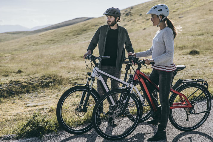 Im Shop in Herdecke können Sie alle unterschiedlichen Ausführungen von Trekking e-Bikes kennenlernen.