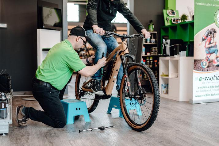 Werkstatt und Service in der e-motion e-Bike Welt Harz